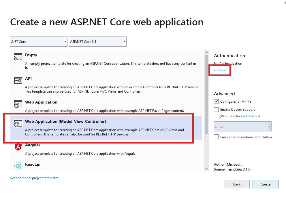ASP.Net core Identity scaffolding default implementation Step 3